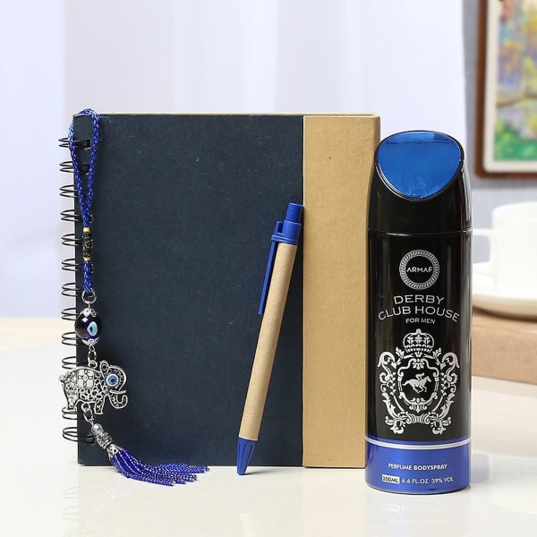 Sticky Note Pad with Pen & Body Spray For Men with Fengshui
