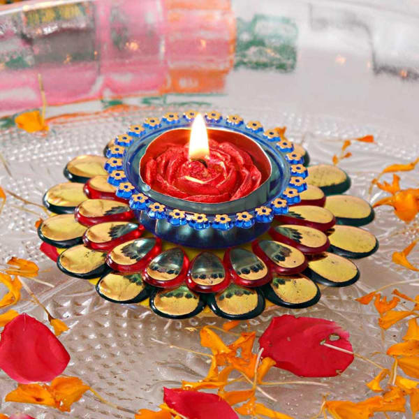 Stone Work Excellent Floating Diya