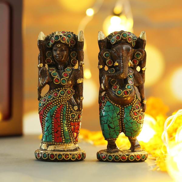 Stone Work Laxmi Ganesha in Gift Box