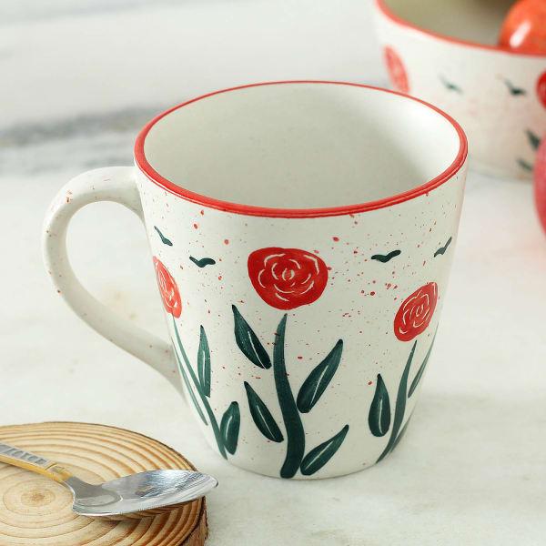 Stoneware Floral Mug