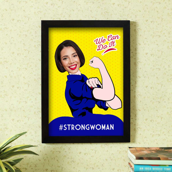 Strong Woman Personalized Photo Frame