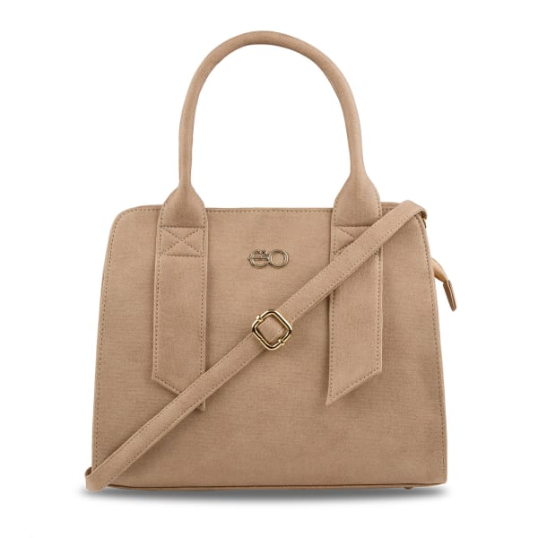 Stylish Beige Satchel Handbag