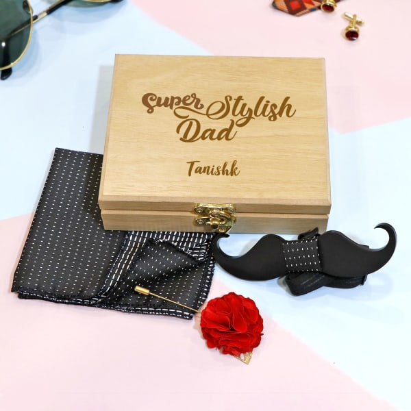 Stylish Dad Accessory Set in Personalized Box