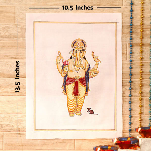 Sumangalam Gold Idol Silk Painting
