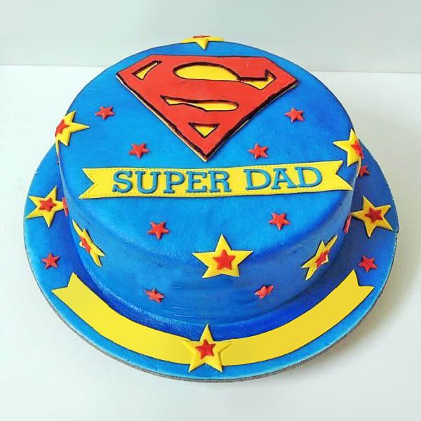 Super Dad Designer Cake (1.5 Kg)
