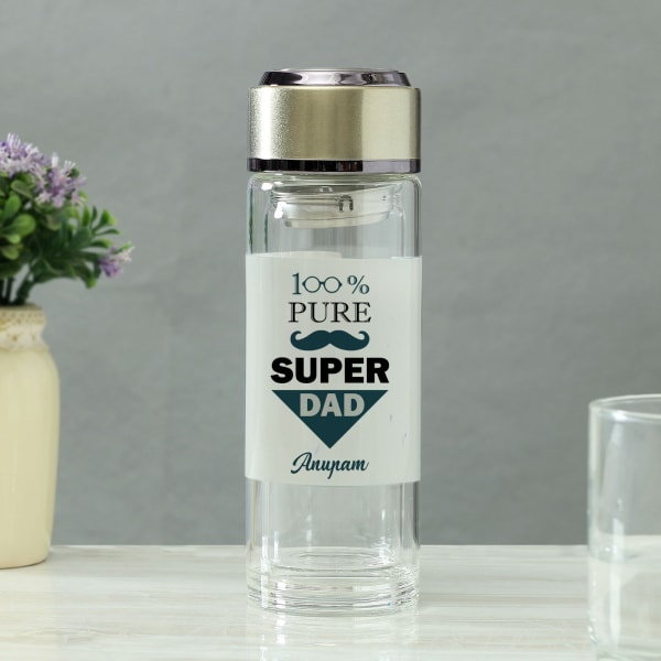 Super Dad Personalized Infused Water Bottle