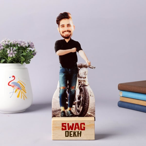Swag Dude Personalized Caricature Stand