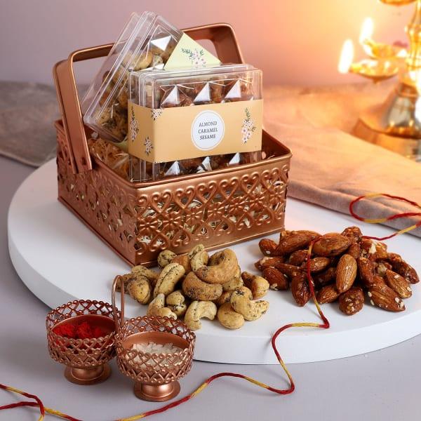Sweet And Savoury Bhai Dooj Gift Basket