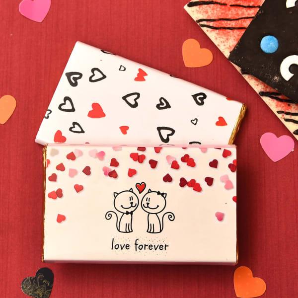 Sweet Love Combo of Roasted Almond Dark Chocolate Bars