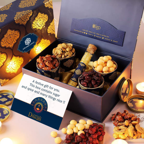 Sweet Surprise Ornate Gift Hamper - Customized With Logo