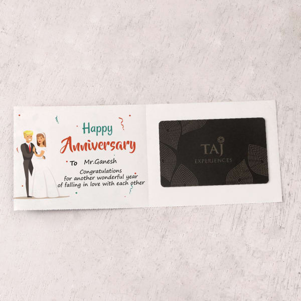 Personalized Anniversary Gift Card