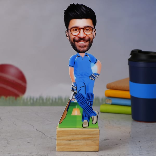 Team India Cricket Fan Personalized Caricature Stand