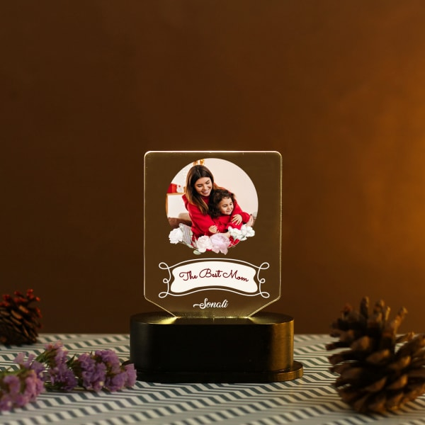 The Best Mom Personalized LED Lamp