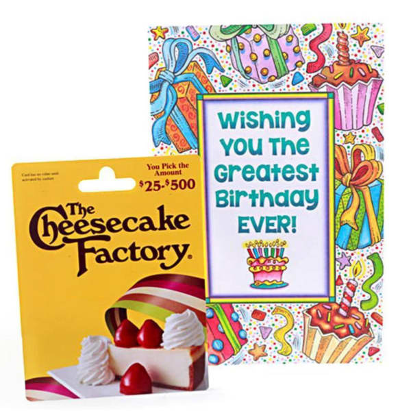 The Cheesecake Factory 25 Gift Card With Birthday Greeting