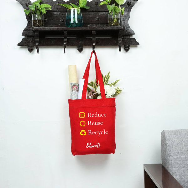 The Eco-friendly Red Canvas Shopping Bag