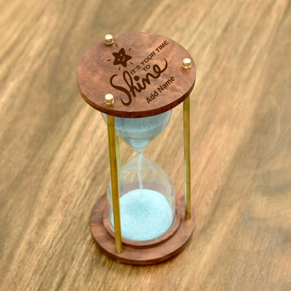 Time To Shine Personalized Hourglass