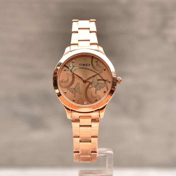 Timex Designer Rosegold Women Watch