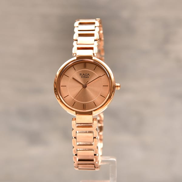 Titan Classy Raga Rosegold Finish Women Watch Gift Send Fashion And