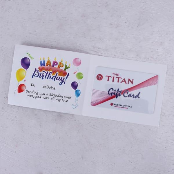 Titan Personalized Birthday Gift Card 2000