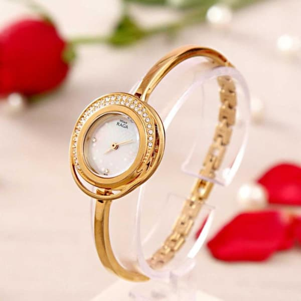 Titan Raga Pearly White Dial Watch for Women