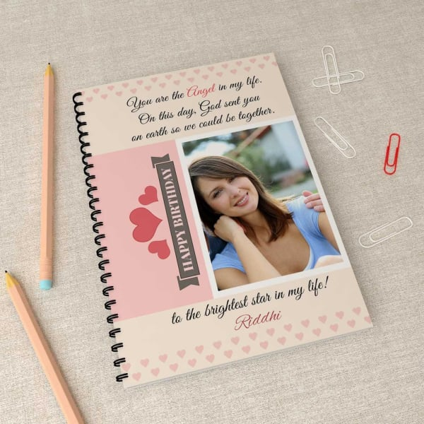 To the Brightest Star Personalized Birthday Notebook
