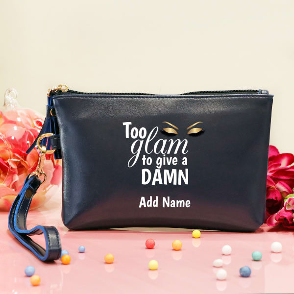 Too Glam Personalized Women's Makeup Pouch