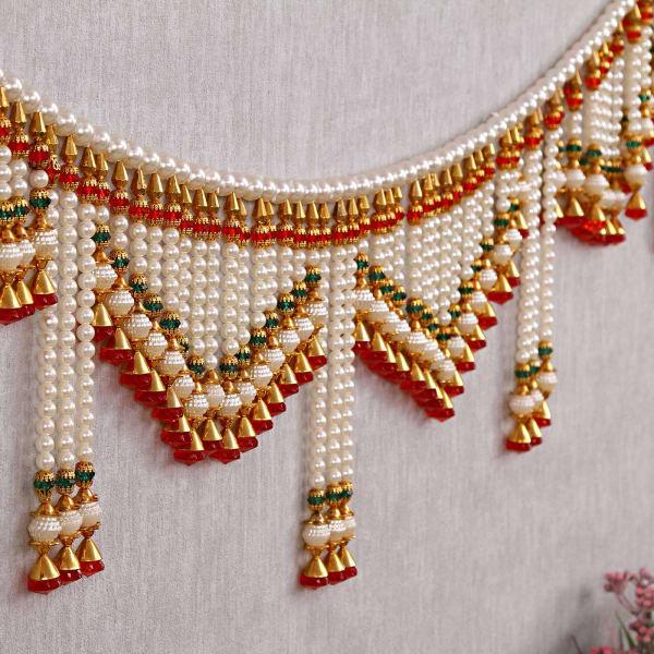 Traditional Handmade Pearl Door Hanging Toran: Gift/Send