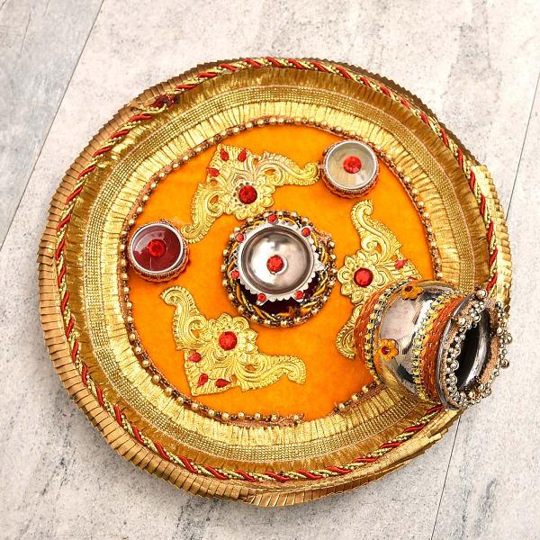 Traditional Karwa Chauth Puja Thali Set