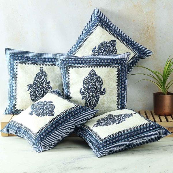 Traditional Motif Printed Cushions (Set of 5)