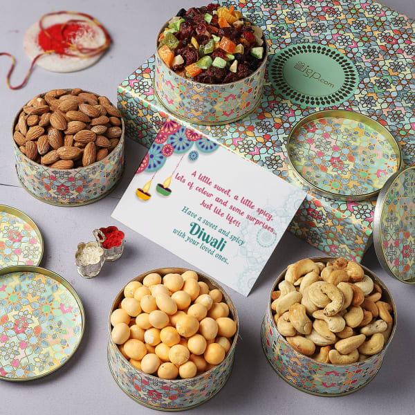 Traditional Motifs Bhai Dooj Gift Box
