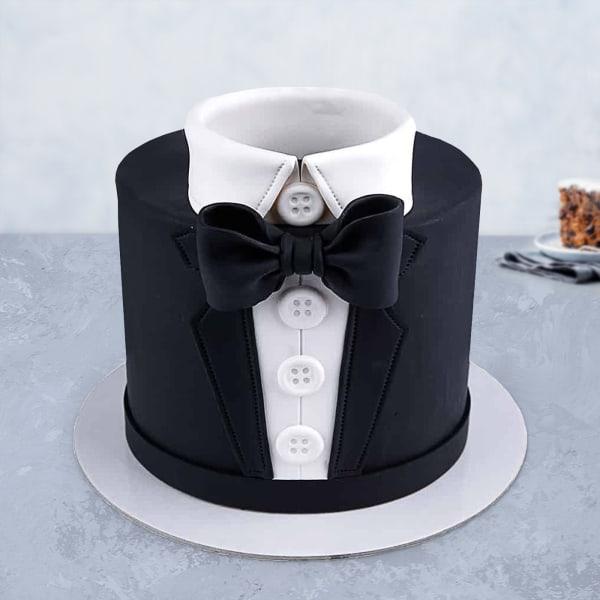 Tuxedo Fondant Cake (3 Kg)