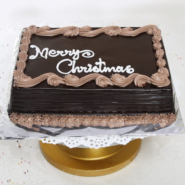 Two kg Square Chocolate Cake