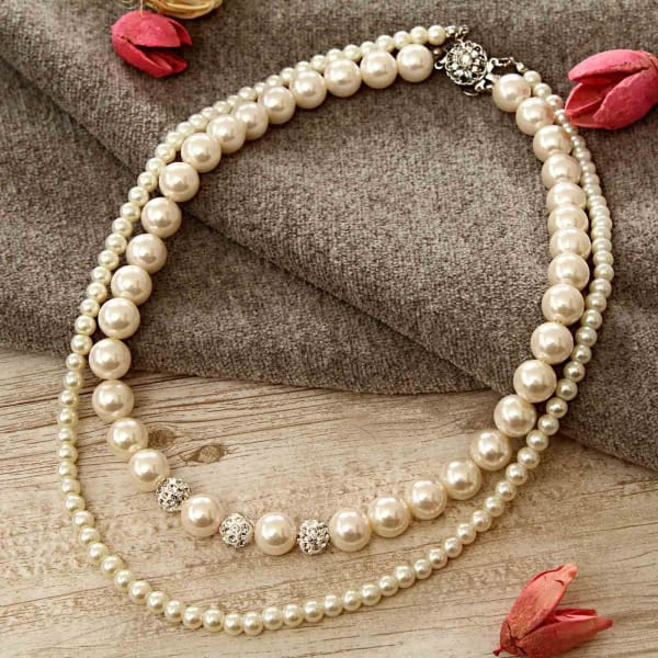 0e0b9eac03 Two-line Pearl Necklace: Gift/Send Jewellery Gifts Online(L11021435 ...