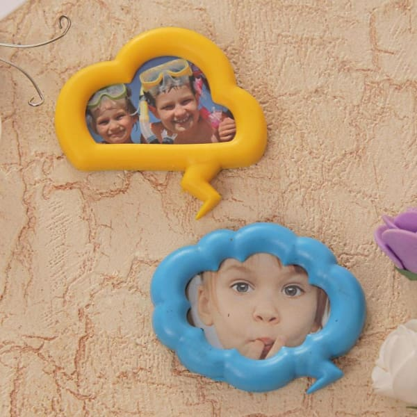 Two Quirky Magnetic Photo Frames Set