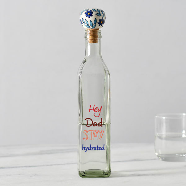 Unique Glass Bottle with Ceramic Stopper for Dad