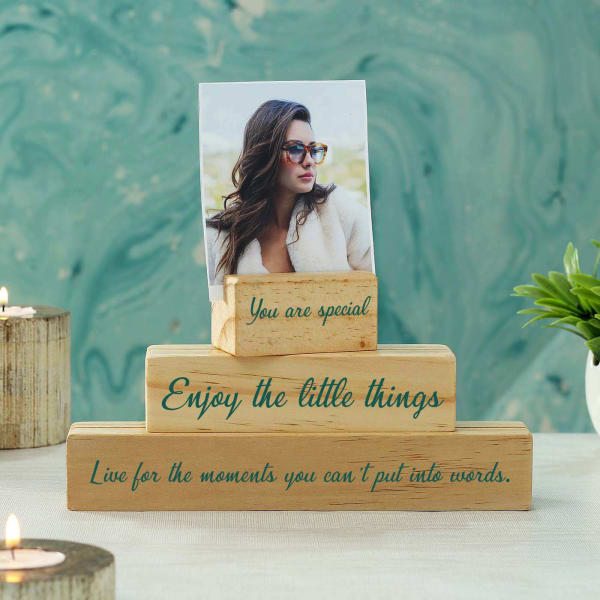 Unique Personalized Handmade Photo Stand