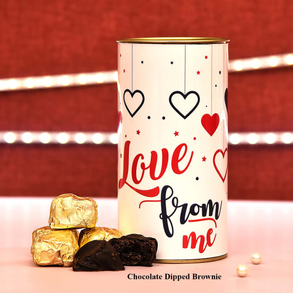 Valentine Special Fudge Brownie in Love Can