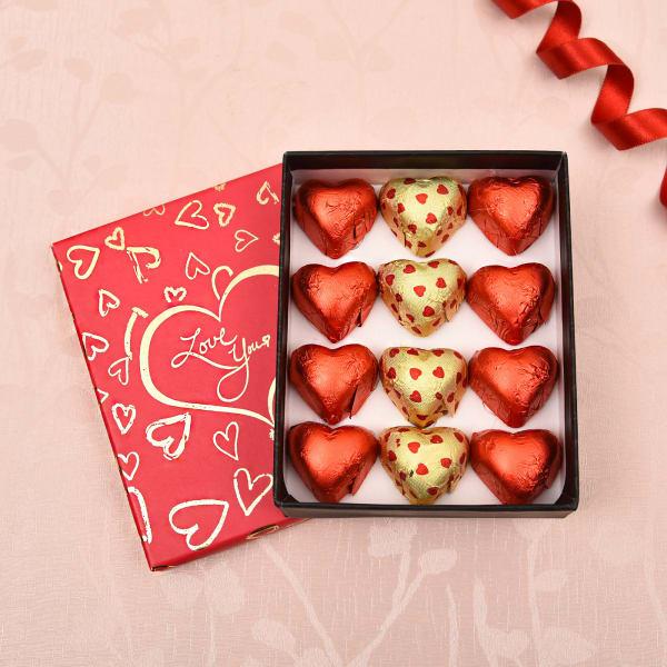Valentine Special Heart Shape Dark & Milk Chocolates