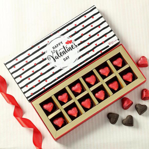 Valentines Day Heart Shaped Dark Chocolates