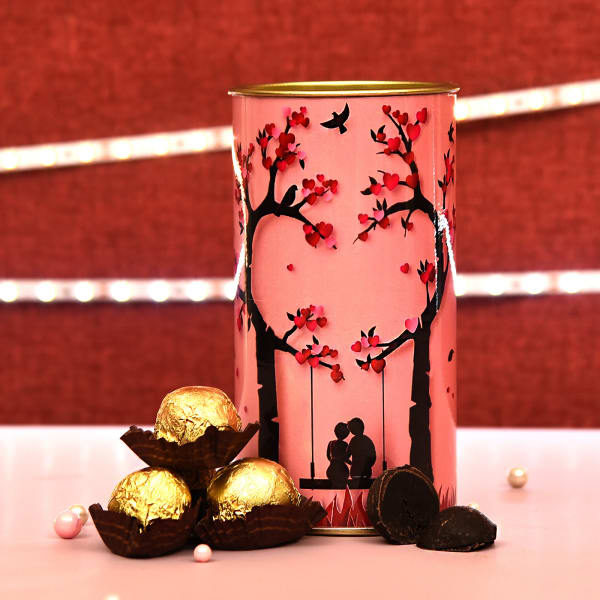 Valentines Day Love Special Chocolate Truffles Can
