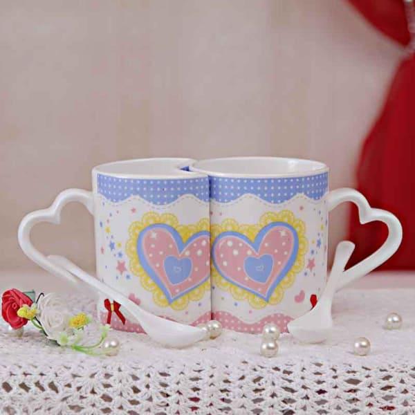 Valentines Set of 2 Love Mugs