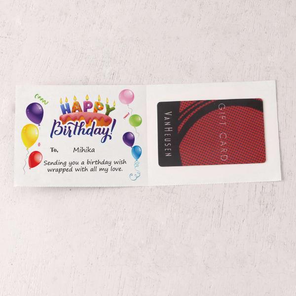Van Heusen 500 INR Personalized Birthday Gift Card