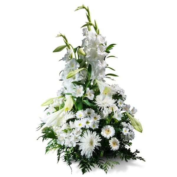Vertical Bouquet in white shades