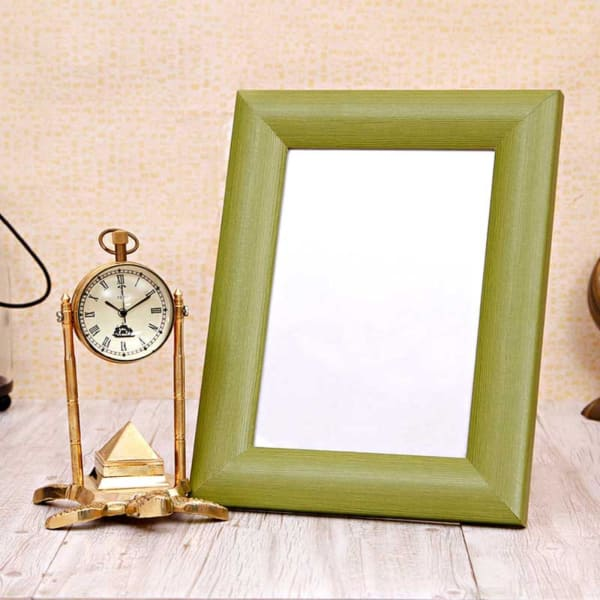Vintage Table Clock Wooden Photo Frame Hamper Giftsend Home