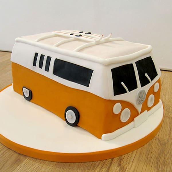 VW Camper Van Fondant Cake (2.5 Kg)