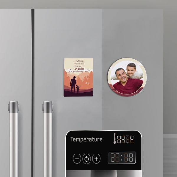 Walk With Dad Personalized Fridge Magnets (Set of 2)