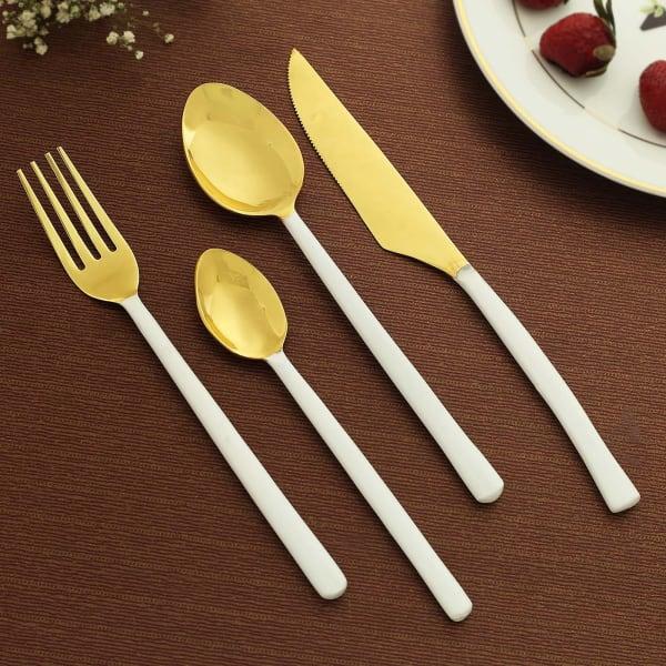 Warm White Cutlery Set (4 Pcs.)