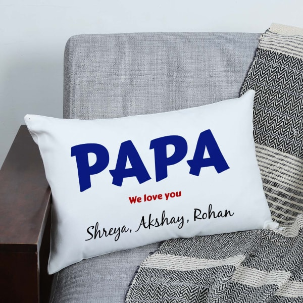 We Love You Papa Personalized Pillow