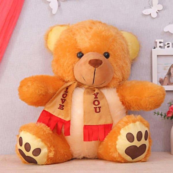 Welcoming Golden Gleam Teddy Bear
