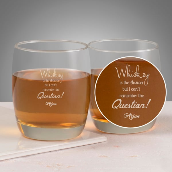 Whisky is the Answer Personalized Whisky Glasses (Set of 2)
